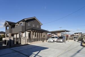 北名古屋市 ソーラーサーキットの家 1階に廊下がない機能的なタイルの家